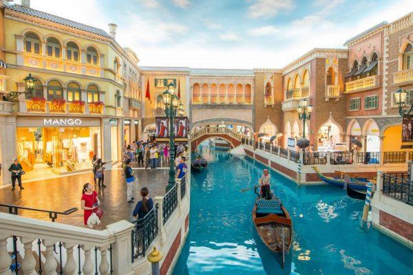 中國澳門的賭場和購物中心